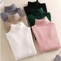 Atasan top rajut knit baju musim dingin winter cewek turtleneck melar