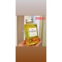 PET Botol Kotak 350 ml Clear / Transparan, Tebal, Tutup Silver