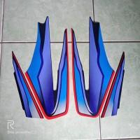 stiker striping motor yamaha Rx king 1999 biru
