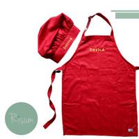 Paket Apron dan Chef Hat Anak