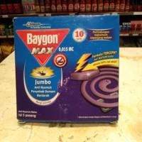 Baygon Coil Jumbo Max/ Obat Nyamuk Bakar Lavender - 150 Gram