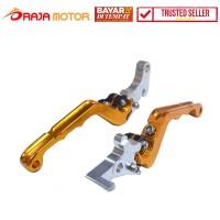 RajaMotor Handle Yamaha RX King New/Vixion Stel Double Lipat CNC-Gold