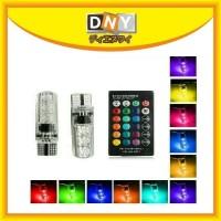 Lampu Led Kota / Spedometer / Senja Remote T10 RGB Isi 2 pcs