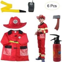 BAJU PROFESI ANAK KOSTUM PEMADAM FIRE ENGINE COSTUME
