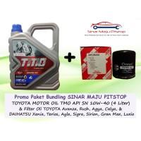 Bundling Oli Mobil Toyota Motor Oil TMO 10W-40 & Filter Oli CALYA