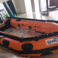perahu karet rescue OCEAN 380 6 orang perekatan welding garansi