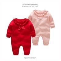 Pajamas Rajut Pakaian Bayi Baju Tidur Baby Set Merah Pink ELOISE