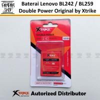 Baterai Xtrike Double Power Lenovo BL259 Vibe K5 K5+ Plus Batre Batrai