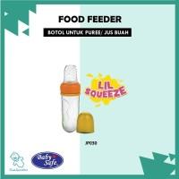ORIGINAL Botol Puree Jus Buah Food Feeder Lil Squezee Baby Safe JP030 - Merah Muda