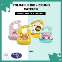 ORIGINAL Celemek Makan Foldable Bib With Crumb Catcher Baby Safe BIB02