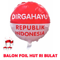 Dekorasi 17 Agustus HUT RI Balon Foil Bulat Besar 40cm 5613