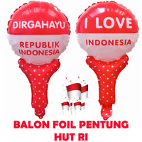 Dekorasi 17 Agustus HUT RI Balon Foil Pentung 5615