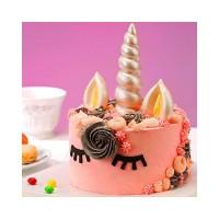 Hiasan Kue Bentuk Tanduk Unicorn untuk Dekorasi Pesta Ulang Tahun Anak