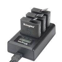 Kingma Charger Baterai 3 Slot GoPro Hero 5/6/7 AHDBT-501 - Black