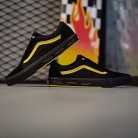 Sepatu Vans Old Skool Pro BMX Larry Edgar Black Yellow Original Murah