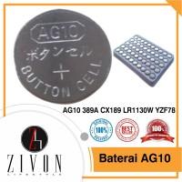 YZF78 Baterai Batre Batere Kancing AG10 389A CX189 LR1130W