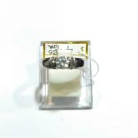 Cincin Mata Satu Emas Putih 750