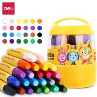 Deli 24 color oil pastel Barrel design Easy to take 72092