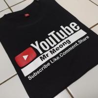 kaos t-shirt baju YouTube bisa REQUEST NAMA CHANNEL KAMU