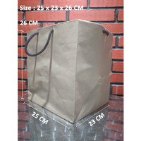 Paperbag Tali kur/Shopping Bag/Tas Kertas Polos - 25x23x26