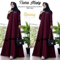 Gamis Tiara Dress Maxy Maroon Realpict Original Berlabel Spassy