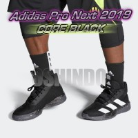 Sepatu Basket Adidas Pro Next 2019 Core Black Asli Original