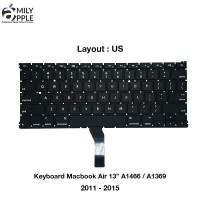 Keyboard Macbook Air 13 A1466 / A1369 2011 - 2015 US UK + Backlight