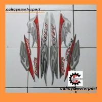 striping/sticker Motor Yamah Mio sporty 2005, silver merah