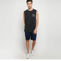 Quiksilver Excompmuscle Sleveless T-shirt Kaos Pria - Anthracite [M TE