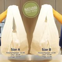 Tas Reusable Bag Baggu Natural / Tas Reusable Blacu ( Min 10 Pcs )