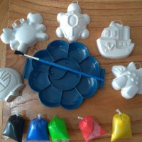 Mainan Anak Art Craft DIY Painting Gift Set for Kids with Pallete