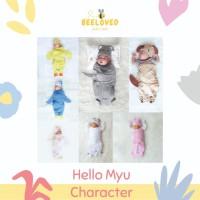 HELLO MYU - Bedong Instan - Cute Baby Wrap - Character Lucu - Pingu