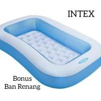 INTEX Kolam Renang Anak Murah - Bak Mandi Air Pompa Angin Bola Persegi