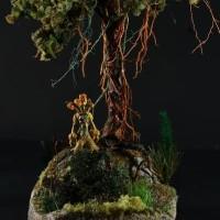 bahan diorama - bahan miniatur - paket diorama old tree
