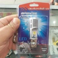 bohlam autovision led tipe k1 rz1 7/7watt putih+lampu senja