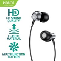 ROBOT RE240 Wired Headset Earphone High-Definition - Android - iPhone