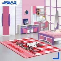 Karpet Anak Karakter Hello Kitty Original Ukuran 100x150cm - HK 01