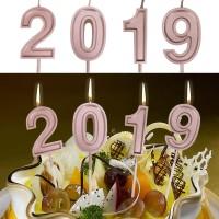 Nomor Baru 2019 Nomor Ulang Tahun Lilin Kue Dekorasi untuk Dewasa /