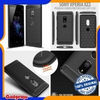 Sony Xperia XZ2 - PREMIUM Carbon Fiber Brushed Soft Case Cover Casing