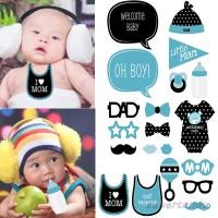 20Pcs Properti Photo Booth untuk Baby Shower