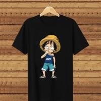 T-shirt Kid Luffy / Baju Kaos Distro Pria Wanita Cotton 30s