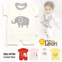 baju jumsuit jumper 0-6bln kaos bayi BABY LEON baju baru lahir newborn