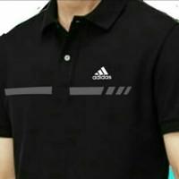 kaos polo pria-baju-tshirt berkerah Adidas line terlaris terbaru