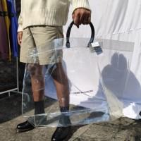 Comme des Garcons SHIRT PVC Transparent Tote Bag CDG