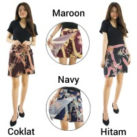 Celana Rok Gea Pendek Hotpant Batik Wanita