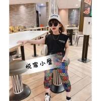 Baju Setelan Kaos Oblong Dan Celana Gucci Anak Perempuan Import