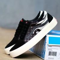 sepatu skate vans OG flame hitam sepatu pria casual sneakers terbaru