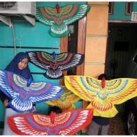 layangan burung garuda bahan kain parasut