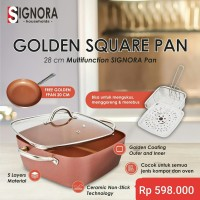 Golden Square Multifuntion pan Signora READY STOCK