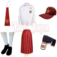Set Lengkap Seragam Merah Putih SD Baju Panjang Rok Panjang